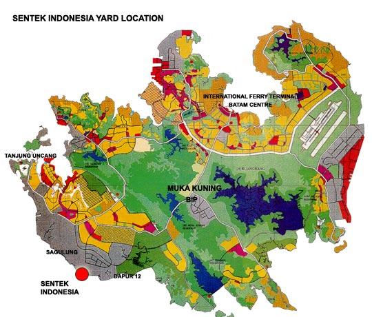 Sentek Indonesia Sentek Yard Location